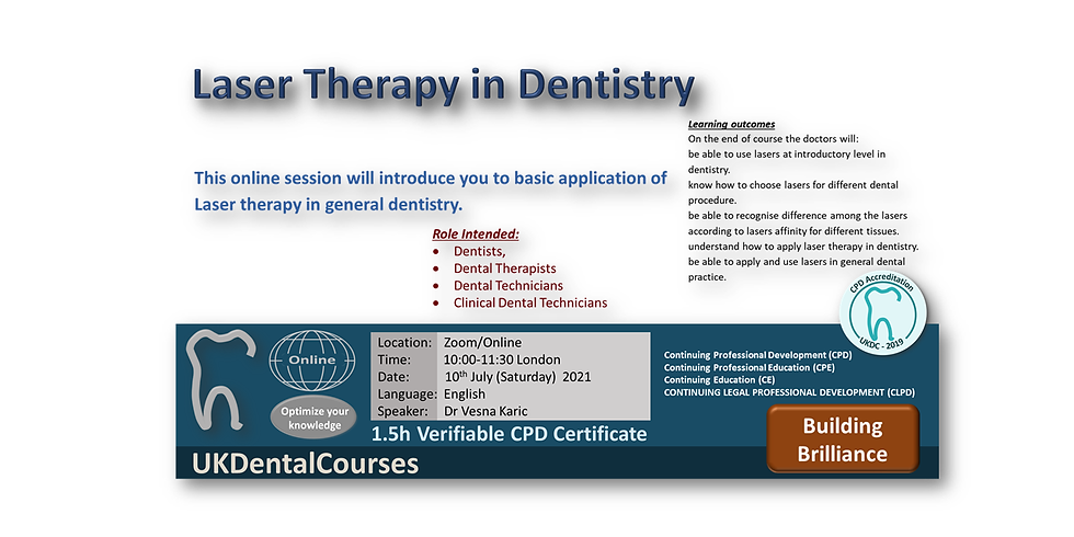 Laser Therapy in Dentistry