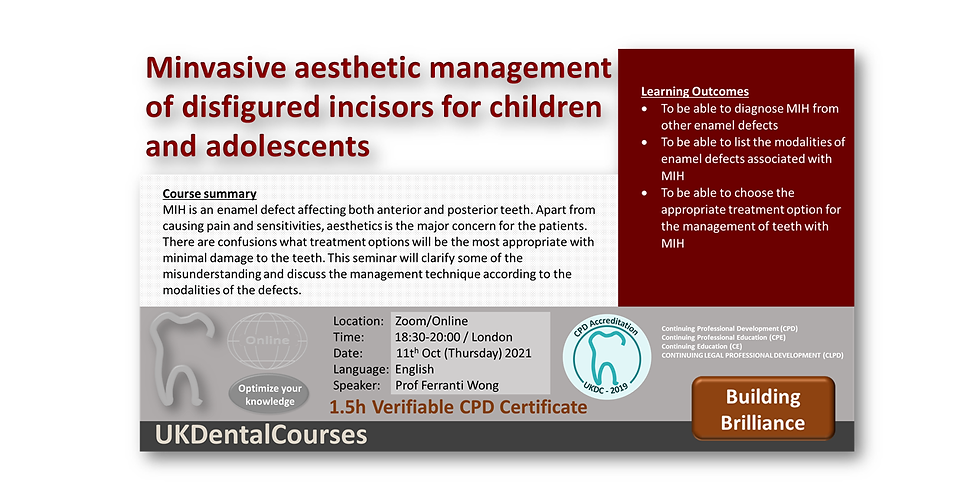 Minimally invasive aesthetic management of disfigured incisors for children and adolescents
