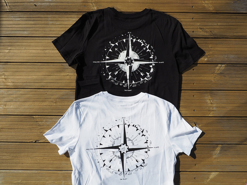 Ninji T-Shirt Schwarz Weiß Rückseite