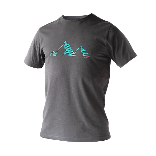 SoSolid T-Shirt Mountain Grau