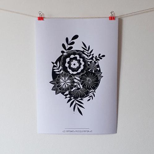 "AFFICHE ""Botanical Moon"""