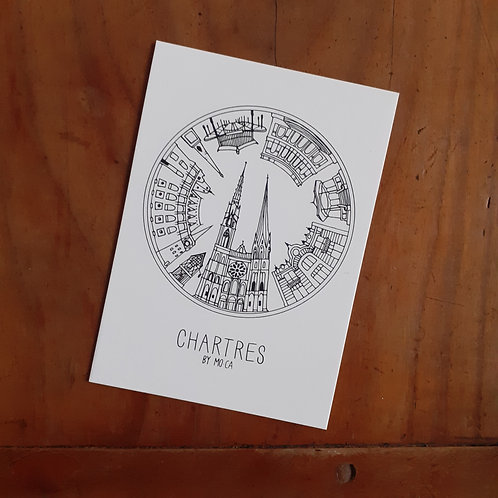 "CARTE ""CHARTRES BY MO-CA"" 10,5x15"