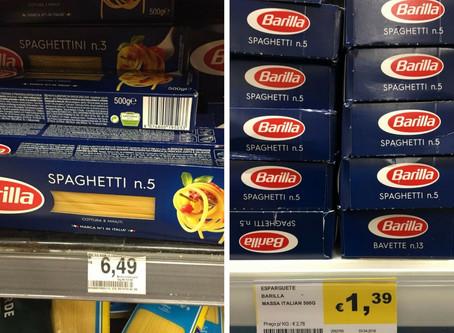Veja a diferenças de preços de produtos em supermercados do Brasil e de Portugal