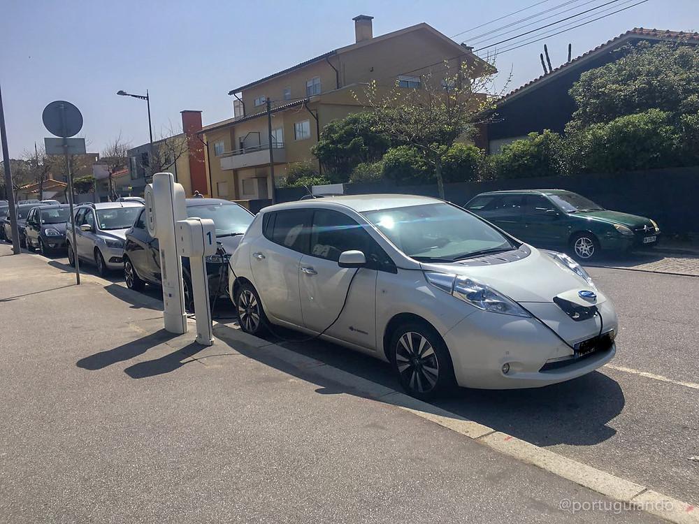 Carregador de carro elétrico em Portugal