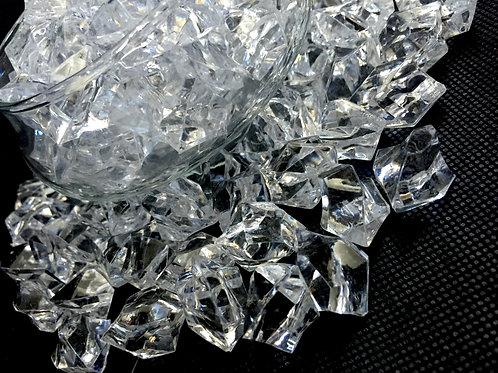 Clear Acrylic Lucky Stone 400gms