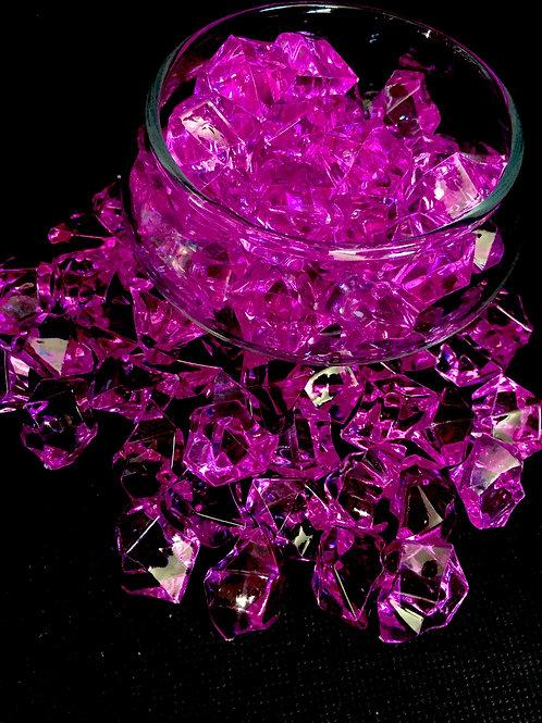 Plum Acrylic Lucky Stone 400grm