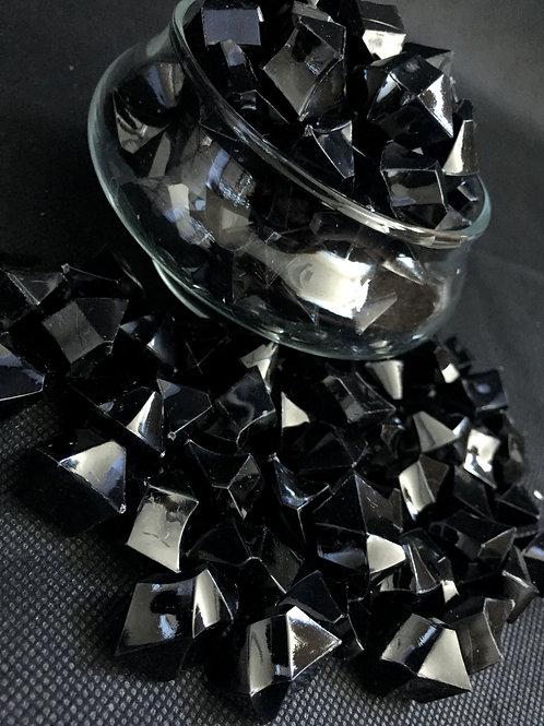 Black Acrylic Lucky Stone 400grm