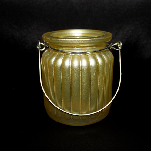Ribbed Votive Holder with Handle
