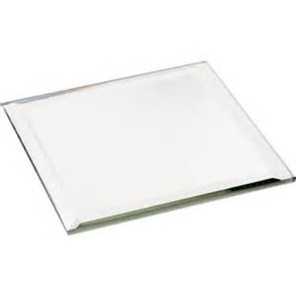 "Square Glass Mirror 6"" 50pcs"