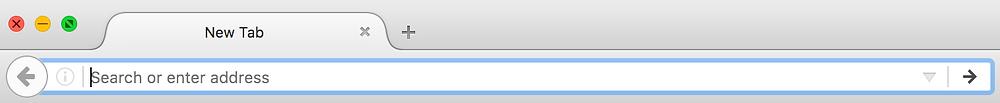 Empty URL bar
