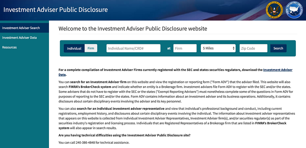 Investment Adviser Public Disclosure