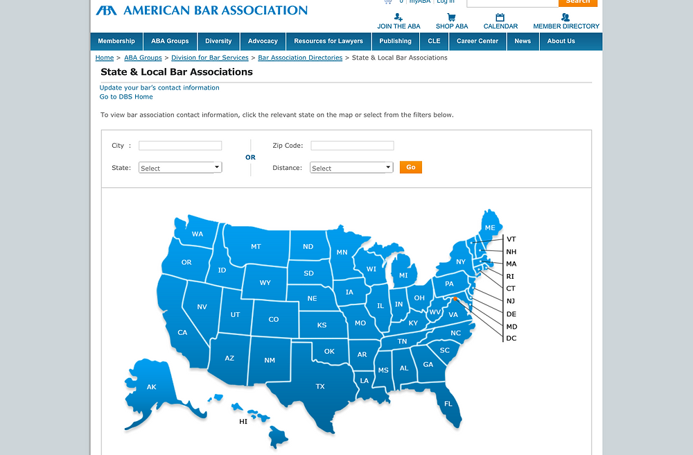 American Bar Association State Associations