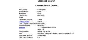 North Carolina CPA Licensee Search Result