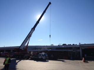 Recent Jobs - TNT: Enfield Distribution Centre Operations Office and Awning Roof's