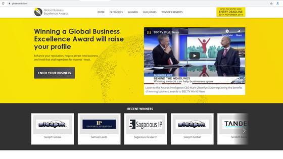SLEEPM GLOBAL WINS GLOBAL BUSINESS EXCELLENCE AWARD