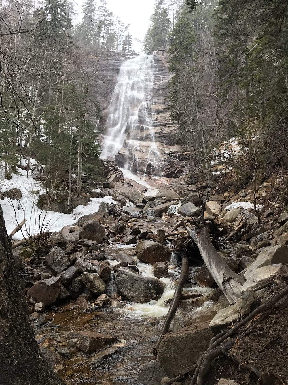 View of the Arethusa Falls
