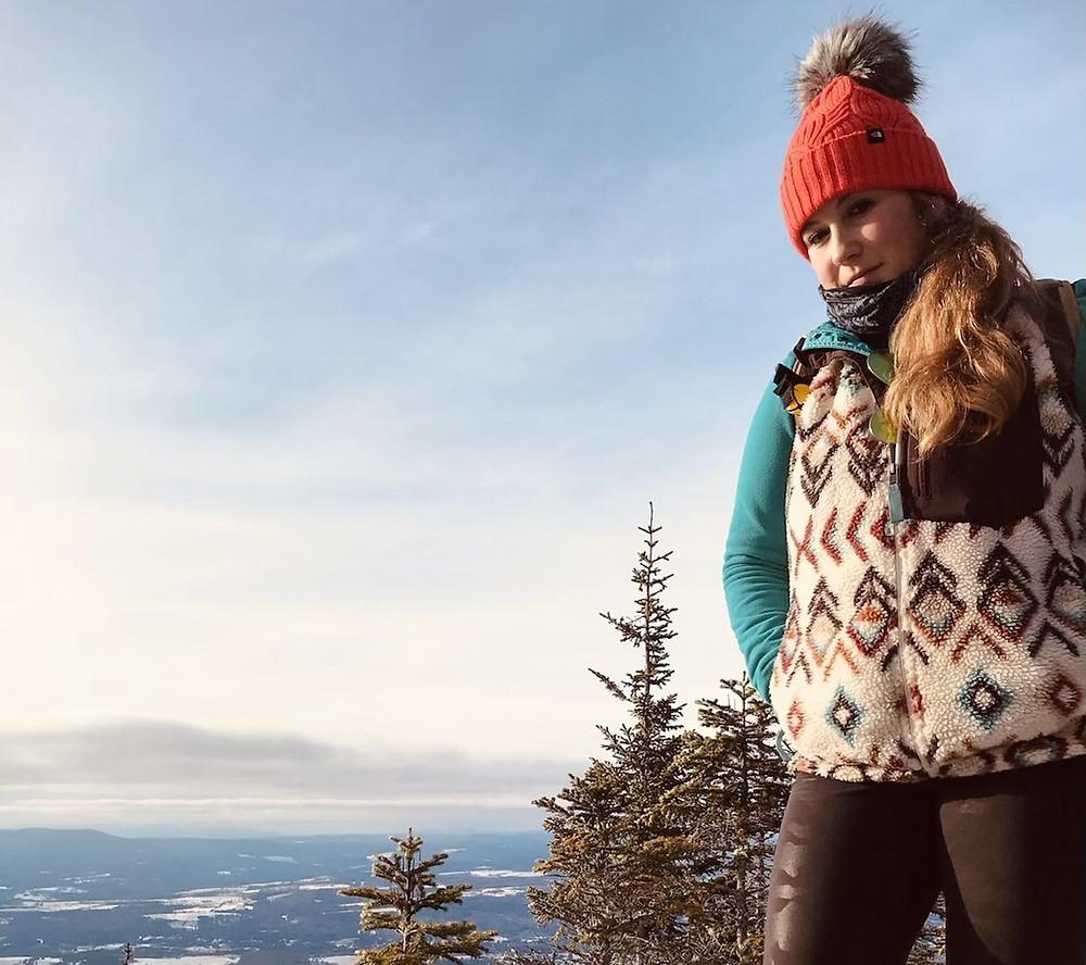 Me standing on Burke Mountain
