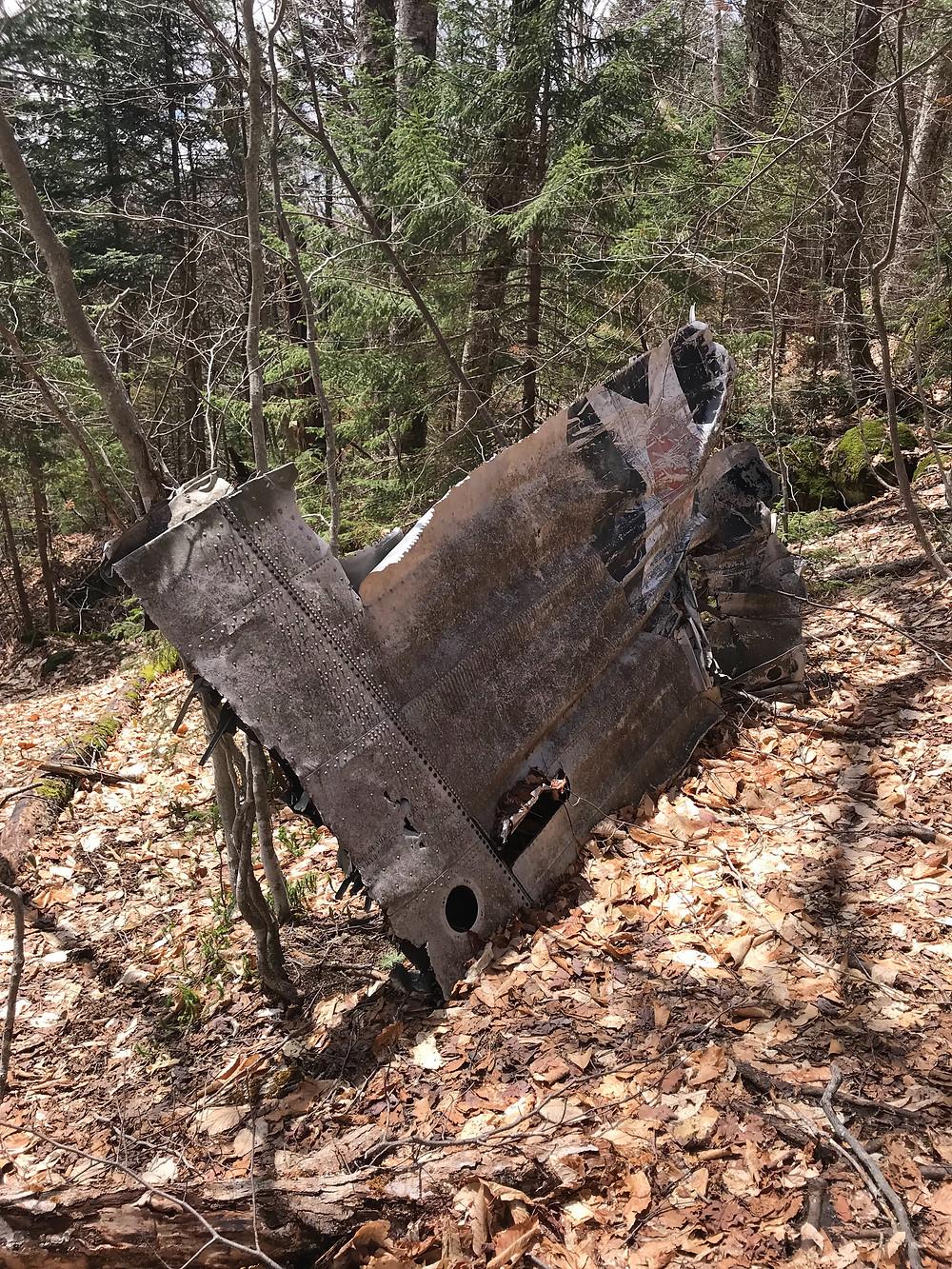 B18 Bomber, Crash site, b18 bomber crash site, hiking, woodstock nh, beauty, outdoors, plane wing