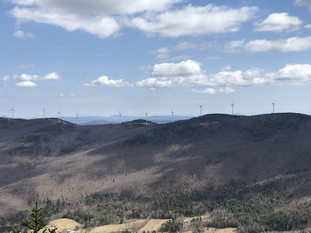 View of Lowell Mountain wind towers