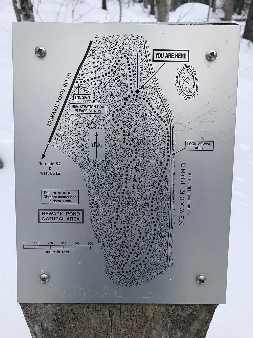 Map of the Newark Pond Trail