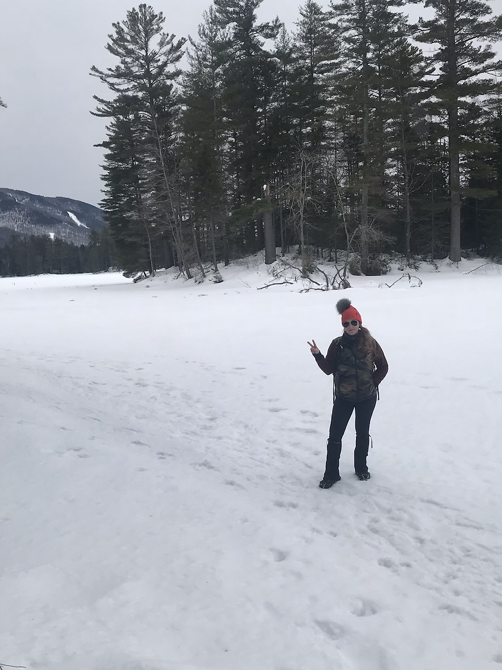 Me standing on the frozen lake