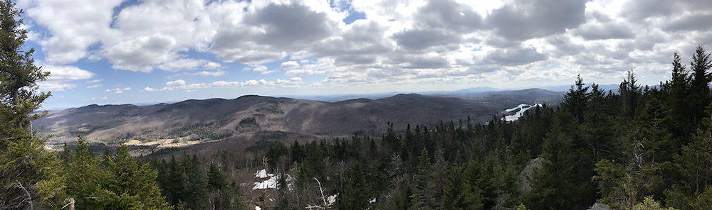 Panoramic view from summit of Mt. Norris