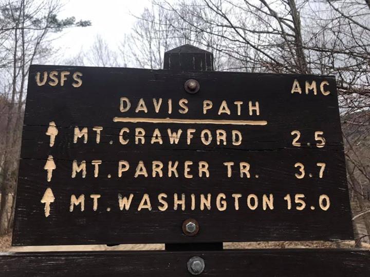 davis path, AMC, Mt. Crawford, Crawford Notch, New Hampshire, Hiking