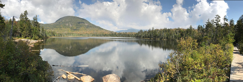 Lonesome lake from one of my previous hikes in the summer