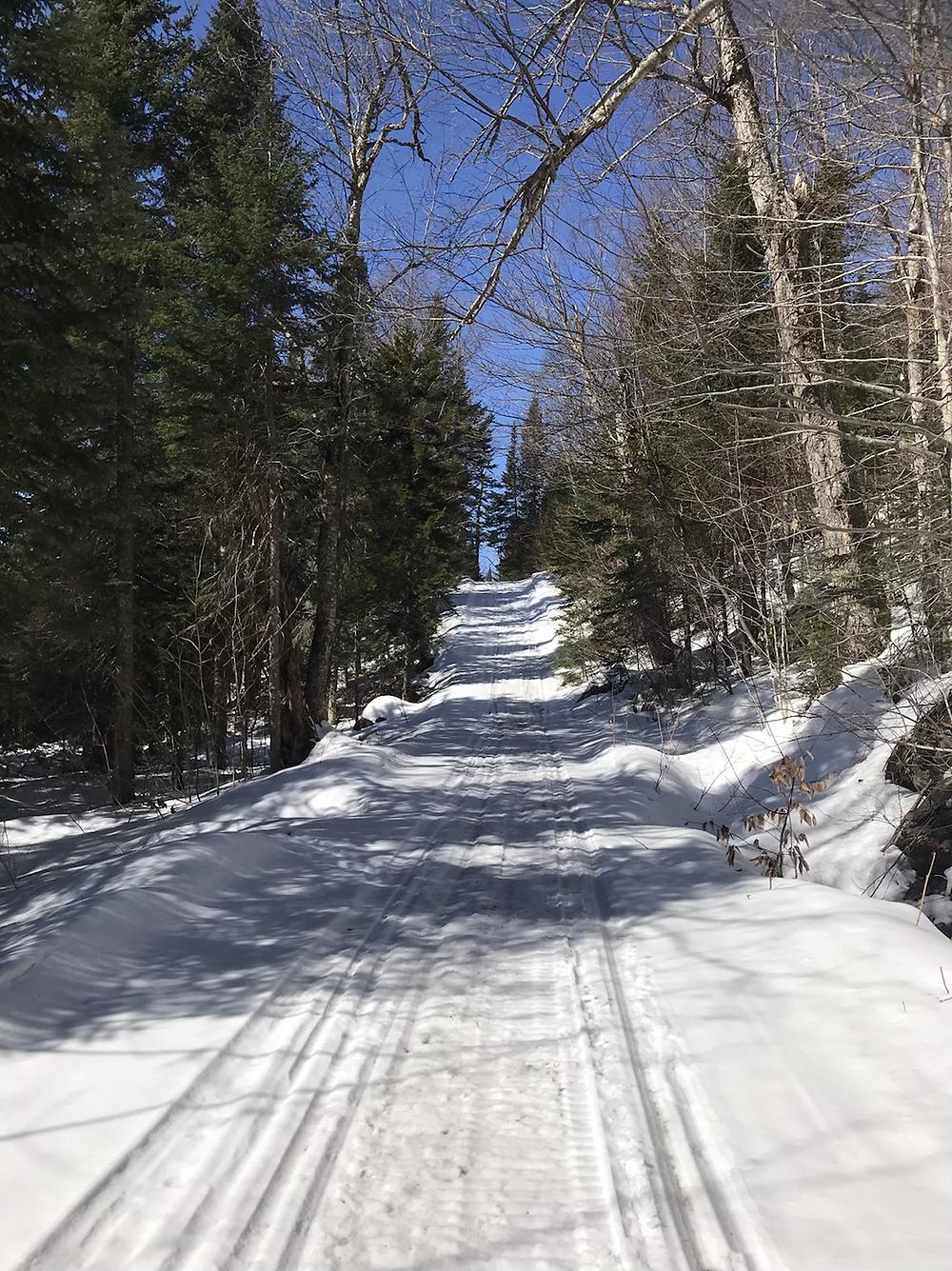Trail following VAST trail