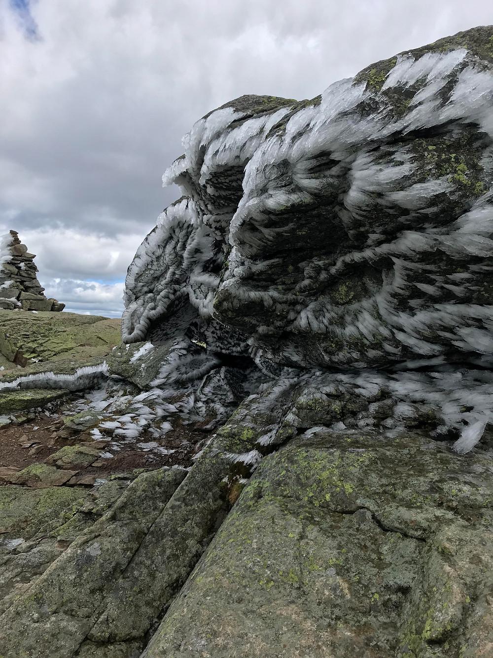 Ice Formations on Franconia Ridge Trail