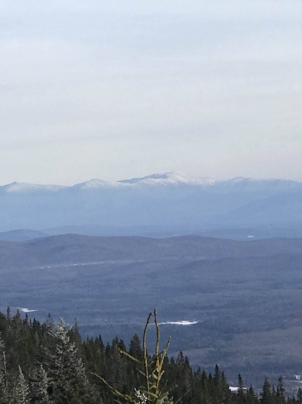 View of the Whites from Burke Mountain