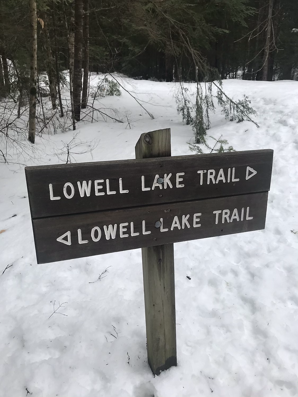 Sign for Lowell Lake Trail