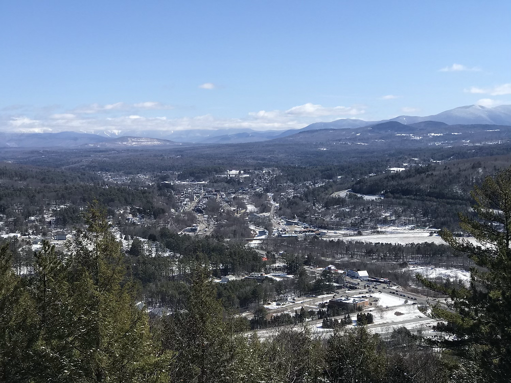 Overlooking Littleton, NH and view of White Mountains