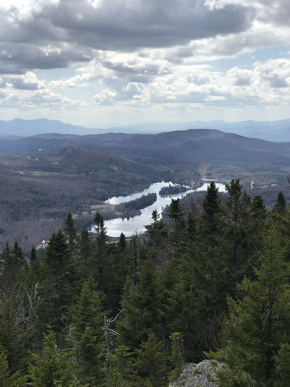 View of Lake Eden from Mt. Norris