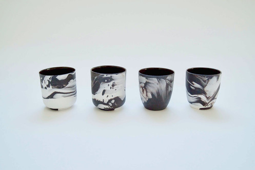 Porcelain and Stoneware Mixed Espresso Cup