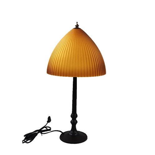 מנורת שולחן ראש זכוכית אטום צבע חרדל