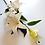 Thumbnail: ענף שושן צחור לבן-פרחי משי לעיצוב הבית