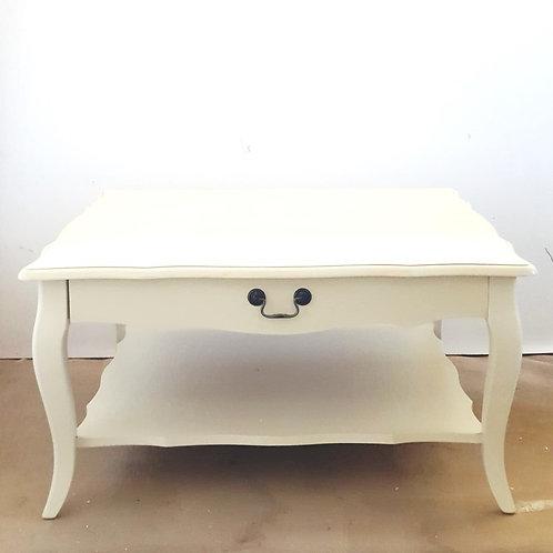 שולחן קפה שמנת