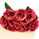 Thumbnail: ענף בוקט נוריות עתיק אדום - פרחי משי לעיצוב הבית