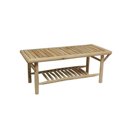שולחן עץ תיק עם סולם תחתון