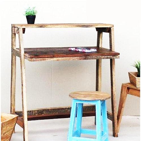 שולחן כתיבה מעץ ממוחזר