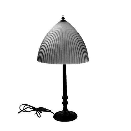 מנורת שולחן ראש זכוכית אטום צבע אפור