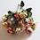 Thumbnail: בוקט נוריות ורדים ורוד בהיר- פרחי משי לעיצוב הבית