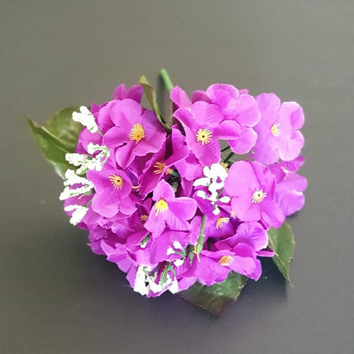 בוקט סיגליות סגול  -פרחי משי לעיצוב הבית