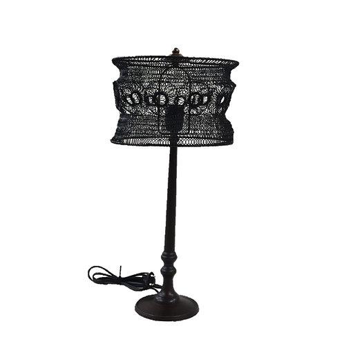 מנורת שולחן גבוהה ראש עגול