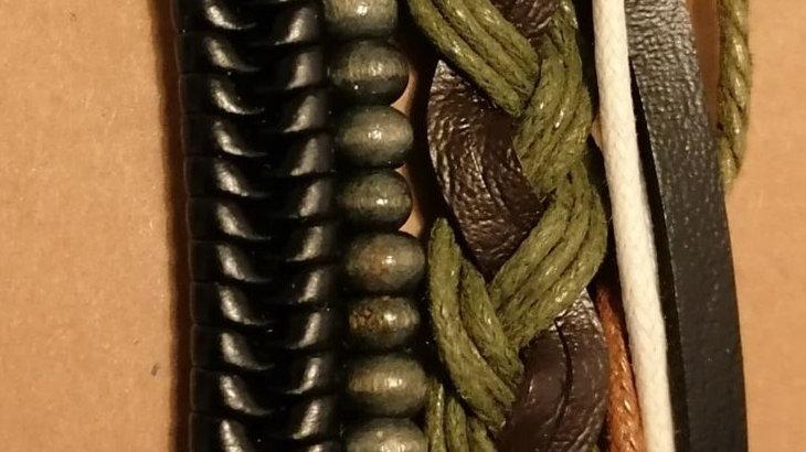 Bracelet - Green Plait