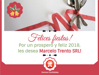 Felices Fiestas! Les desea, Marcelo Trento
