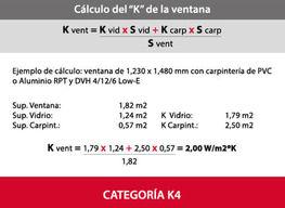 Calculo Factor k en una Ventana