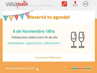 Fin de Año VASApuntos - 8 de Noviembre 2018