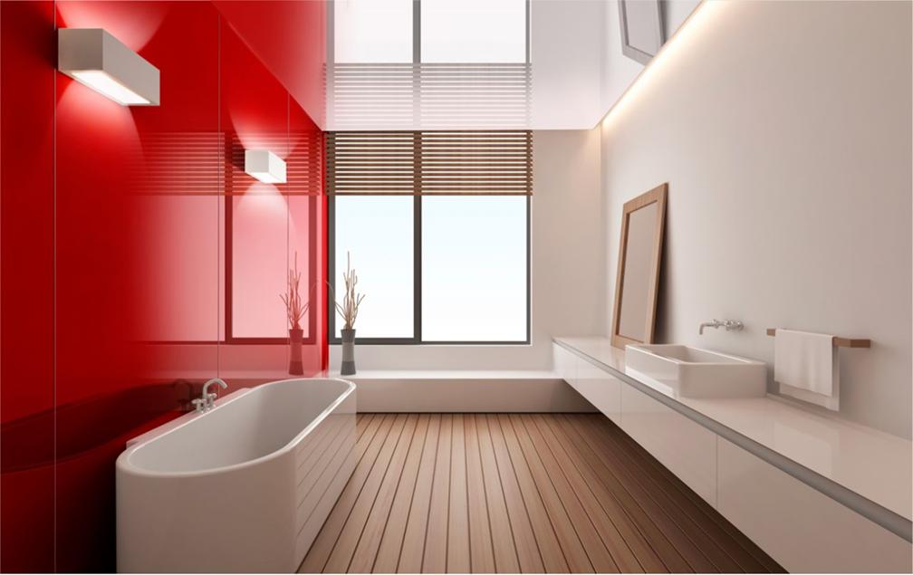 CoverGlass en un baño